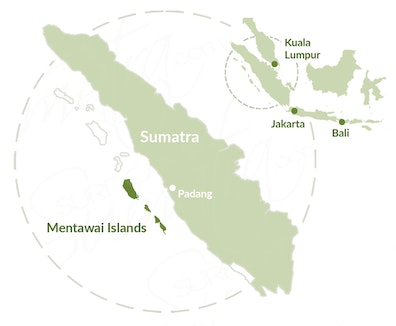 Mentawai Islands map