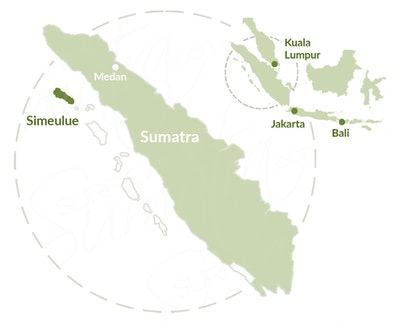 Simeulue map