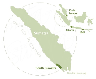 Krui, South Sumatra map