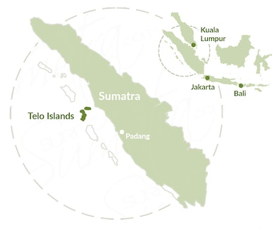 Telo Islands map
